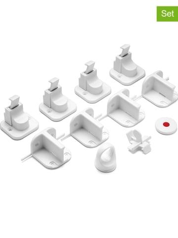 Reer 4-delige set: magneetsloten wit