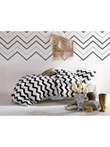 """Colourful Cotton Komplet pościeli """"Small Zigzag"""" w kolorze czarno-białym"""