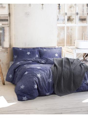 "Colourful Cotton Renforcé beddengoedset ""Tstar"" blauw"