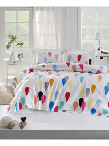 "Colourful Cotton Bedsprei ""Vendula"" wit/meerkleurig"