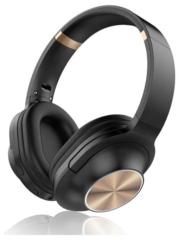 SmartCase Słuchawki bezprzewodowe Bluetooth On-Ear w kolorze czarno-złotym
