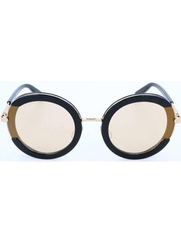 Salvatore Ferragamo Damskie okulary przeciwsłoneczne w kolorze czarno-złotym