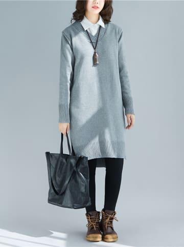 Amato Rizzi Sukienka w kolorze szarym