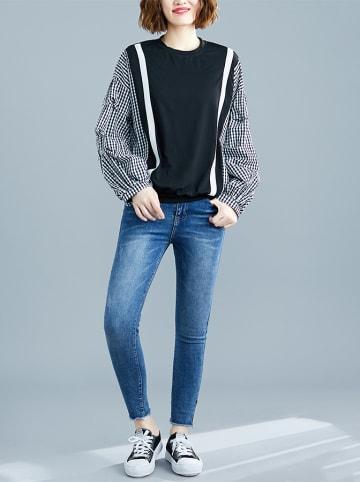 Amato Rizzi Bluzka w kolorze czarno-białym ze wzorem