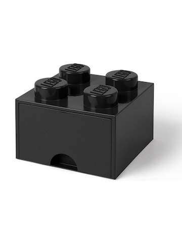 "LEGO Ladebox ""Brick 4"" zwart - (B)15,8 x (H)11,3 x (D)15,8 cm"