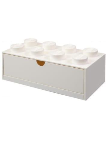 """LEGO Pojemnik """"Brick 8"""" w kolorze białym z szufladami - 32 x 16 x 12 cm"""