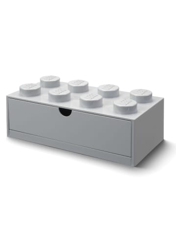 """LEGO Pojemnik """"Brick 8"""" w kolorze szarym z szufladami - 32 x 16 x 12 cm"""