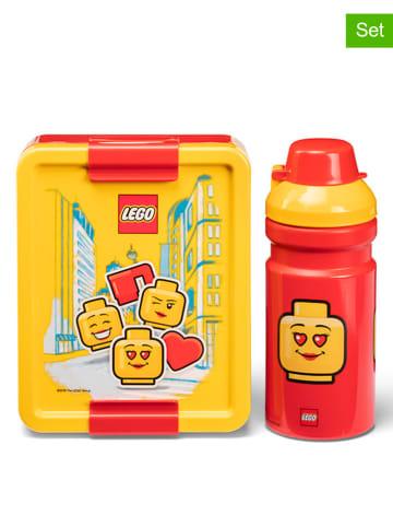 """LEGO 2-delige lunchset """"Iconic - Girl"""" geel/rood"""