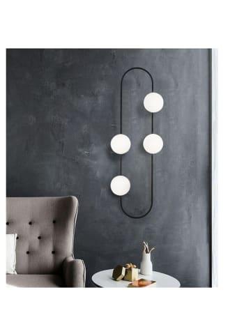 "Mioli Wandlamp ""Abaküs"" zwart/wit - (B)33 x (H)124 cm"