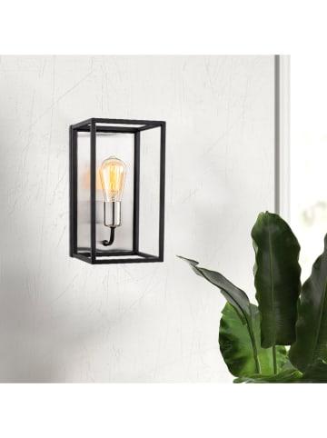 "ABERTO DESIGN Wandlamp ""Kafes"" zwart - (B)17 x (H)32 cm"