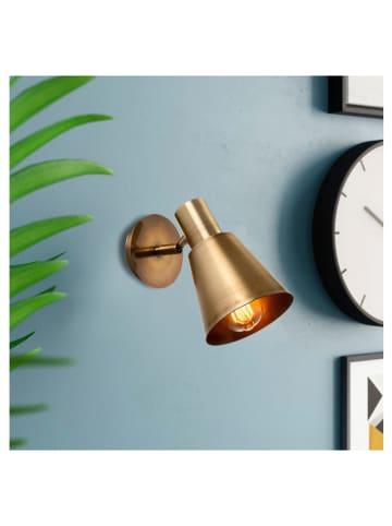 """Mioli Wandlamp """"Kem"""" goudkleurig - (B)14 x (H)22 cm"""