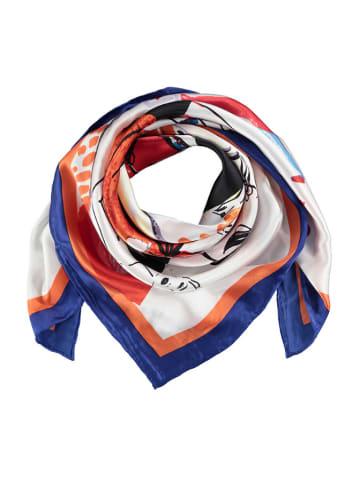 Made in Silk Jedwabna chusta w kolorze białym ze wzorem - (D)90 x (S)90 cm