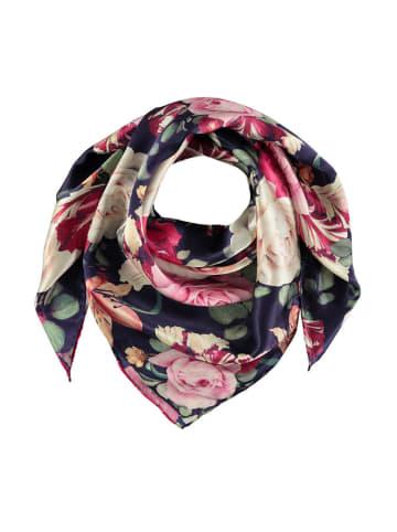 Made in Silk Seiden-Tuch in Dunkelblau/ Bunt - (L)90 x (B)90 cm