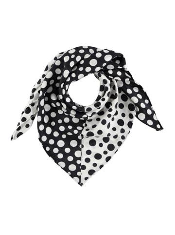 Made in Silk Seiden-Tuch in Weiß/ Schwarz - (L)86 x (B)86 cm
