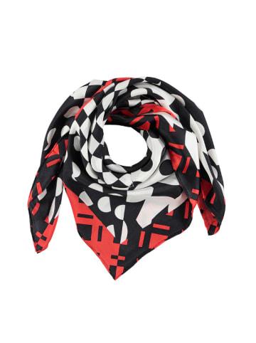 Made in Silk Seiden-Tuch in Schwarz/ Weiß/ Rot - (L)90 x (B)90 cm