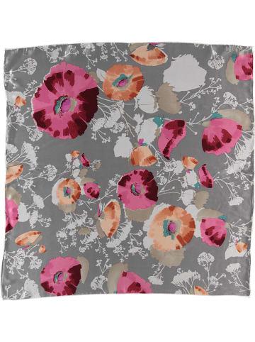 Made in Silk Jedwabna chusta w kolorze szaro-różowo-brzoskwiniowym - (D)90 x (S)90 cm