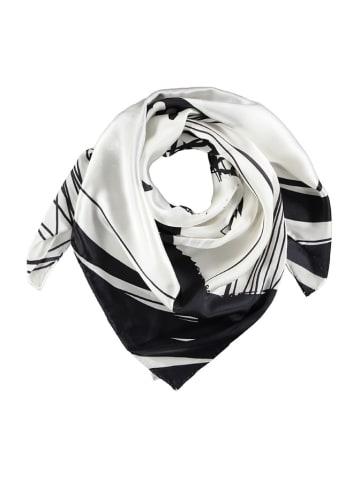 Made in Silk Seiden-Tuch in Weiß/ Schwarz - (L)90 x (B)90 cm