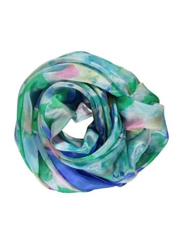 Made in Silk Seiden-Schal in Blau/ Grün/ Bunt - (L)180 x (B)90 cm