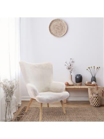 """THE HOME DECO FACTORY Fotel """"Helsinki"""" w kolorze białym - 74 x 100 x 65 cm"""
