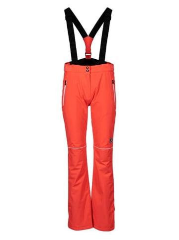 Peak Mountain Spodnie narciarskie w kolorze koralowym