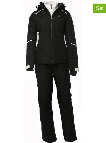 Peak Mountain 2-delige ski-/snowboardoutfit zwart