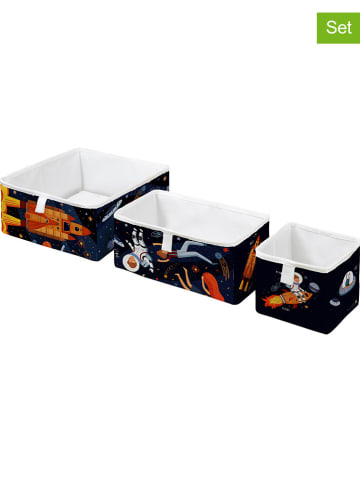 Mr Little Fox 3-delige set: boxen donkerblauw/meerkleurig