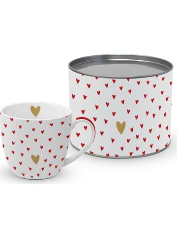 "Ppd Mok ""Big Mug Little Hearts"" wit/rood - 400 ml"