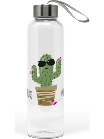 """Ppd Bidon """"Hug Me Cactus"""" w kolorze biało-zielonym - 550 ml"""