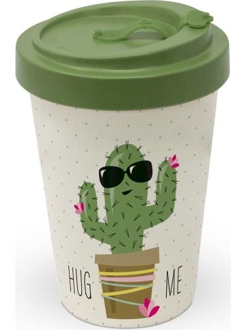 """Ppd Kubek To-Go """"Hug Me Cactus"""" w kolorze beżowo-zielonym - 400 ml"""
