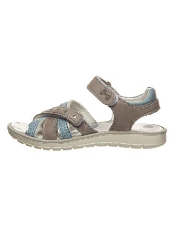 Primigi Skórzane sandały w kolorze szarobrązowo-błękitnym