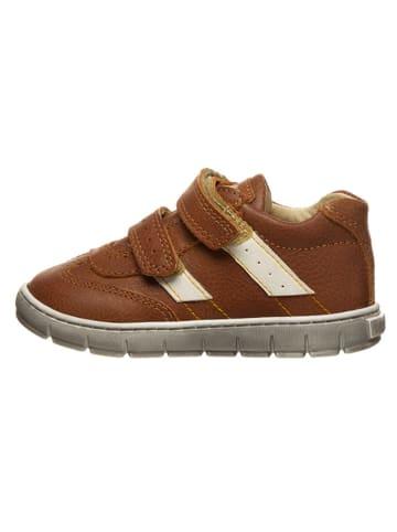 Primigi Skórzane sneakersy w kolorze jasnobrązowym