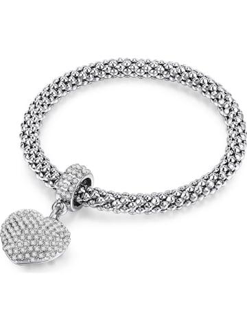 Tassioni Verzilverde armband met hanger