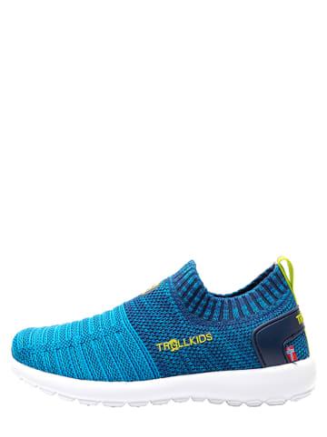 """Trollkids Sneakersy """"Oslo"""" w kolorze niebieskim"""