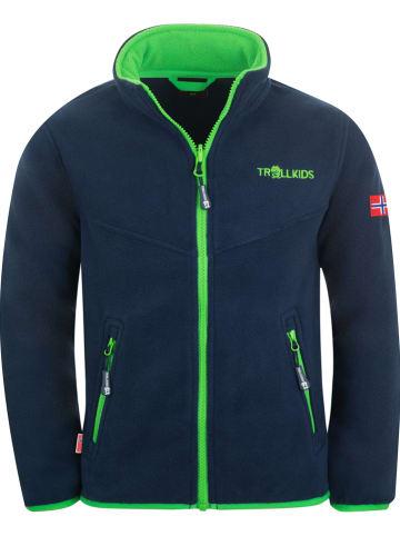 "Trollkids Fleece vest ""Oppdal"" donkerblauw"