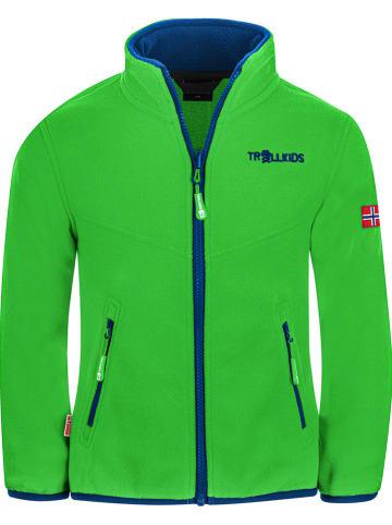 """Trollkids Fleece vest """"Oppdal"""" groen"""