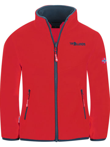 "Trollkids Fleece vest ""Oppdal"" rood"