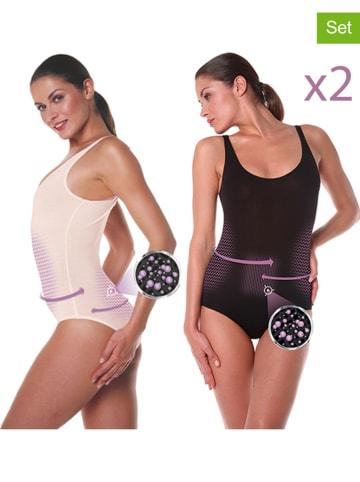 Slimtess Body modelujące (2 szt.) w kolorze beżowym i czarnym