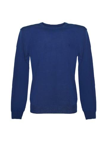 Trussardi Sweter w kolorze niebieskim