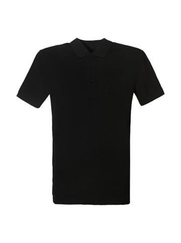 Trussardi Koszulka polo w kolorze czarnym