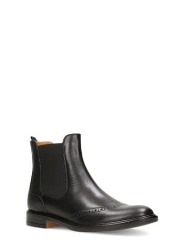 Gino Rossi Leder-Chelsea-Boots in Schwarz