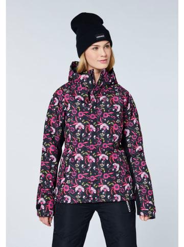 """Chiemsee Kurtka narciarska """"El Nora"""" w kolorze różowo-czarnym"""