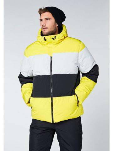 """Chiemsee Kurtka narciarska """"Cooper"""" w kolorze szaro-czarno-żółtym"""