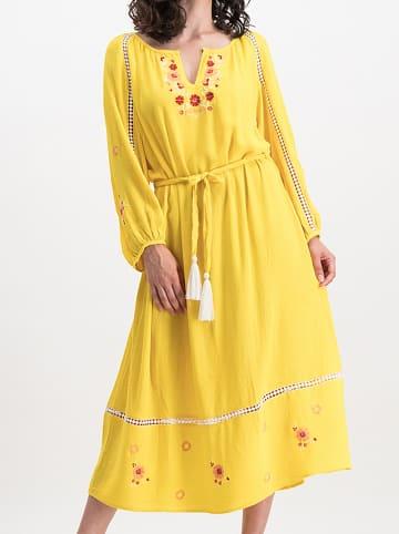"""Blutsgeschwister Sukienka """"Bohemian Beauty"""" w kolorze żółtym"""