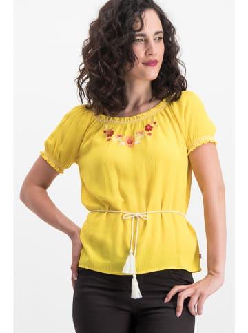 """Blutsgeschwister Koszulka """"Bees and Birds"""" w kolorze żółtym"""