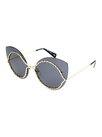 Marc Jacobs Damskie okulary przeciwsłoneczne w kolorze szaro-złotym