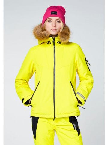 """Chiemsee Kurtka narciarska """"Grapevine"""" w kolorze żółtym"""