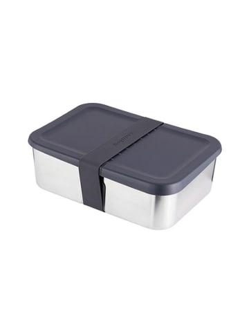 BergHOFF Lunchbox zilverkleurig/zwart - (B)21,5 x (H)7 x (D)14,5 cm