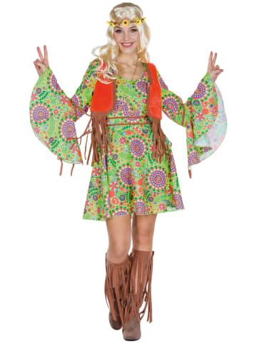 """Rubie`s 4-delig kostuum """"Hippie"""" groen/lichtbruin/meerkleurig"""