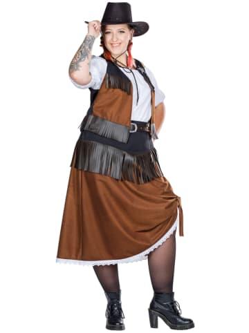 """Rubie`s 4-delig kostuum """"Cowgirl"""" lichtbruin/wit"""