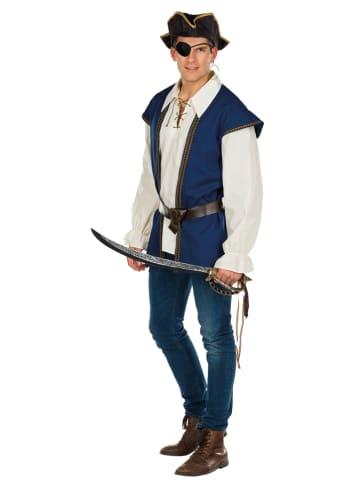 "Rubie`s 2tlg. Kostüm ""Pirat"" in Blau/ Beige"